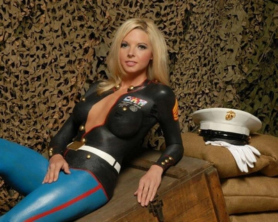 Body Painted Beauties of the Armed Forces