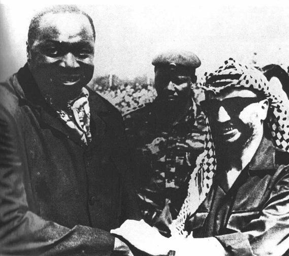 Иди Амин и Ясир Арафат, дружеское фото.