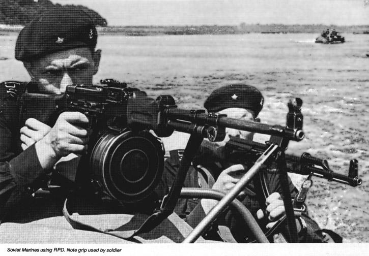 Советский морской пехотинец с ранним РПД.