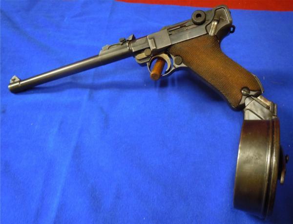 Luger Pistol с барабанным магазином