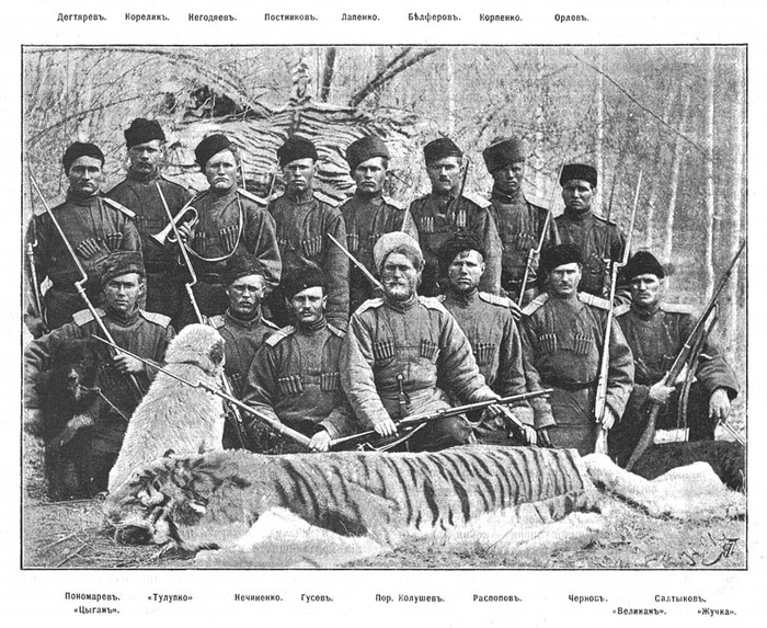 Военные охотники одного из Туркестанских гарнизонов