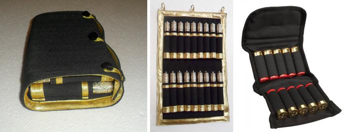 Слева направо: казачья газырница в сложенном, разложенном виде и патронташ фирмы Allen (стоимость 11 USD)