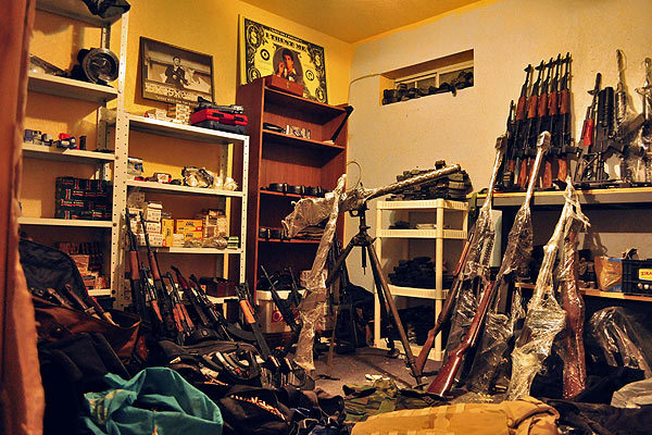 A gallery of some of the worlds most impressive personal gun displays