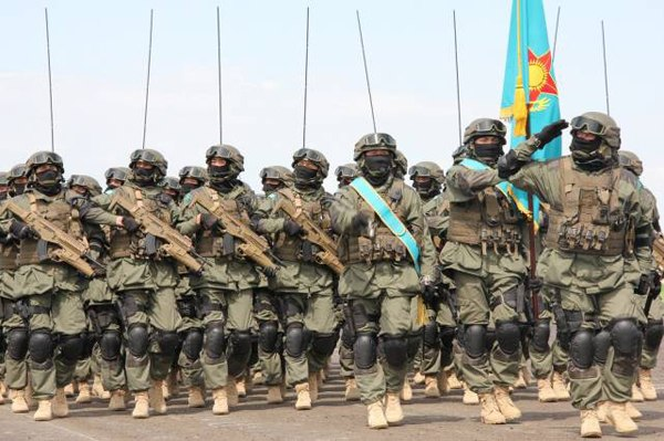 Kazakh army on parade