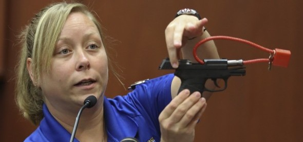 Пистолет конфискованный полицией у Джорджа Циммермана
