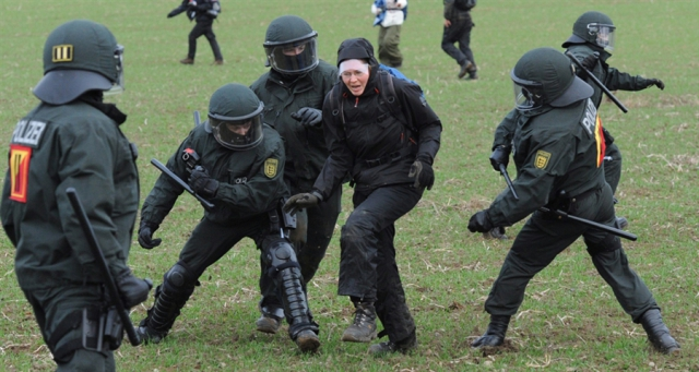 Полиция с тонфами