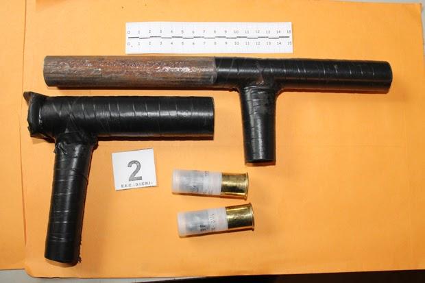 Изъятое самодельное оружие
