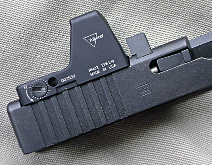 Затвор-кожух пистолета Glock с вырезом под коллиматор