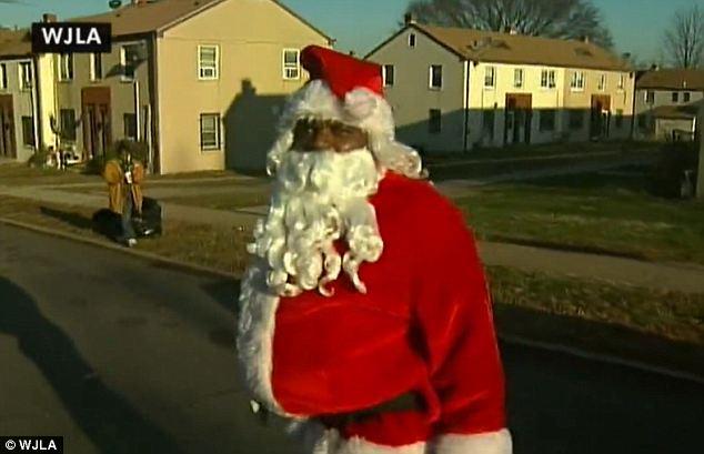Темнокожего Санта-Клауса подстрелили в Вашингтоне
