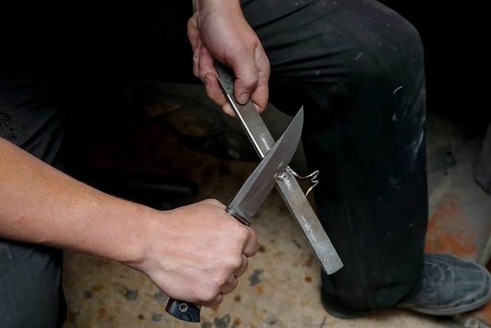 Сделать красивый нож как