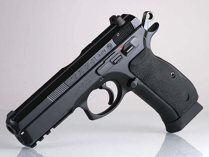 Чешский пистолет CZ 75 SP 01 Shadow на пластиковой рамке
