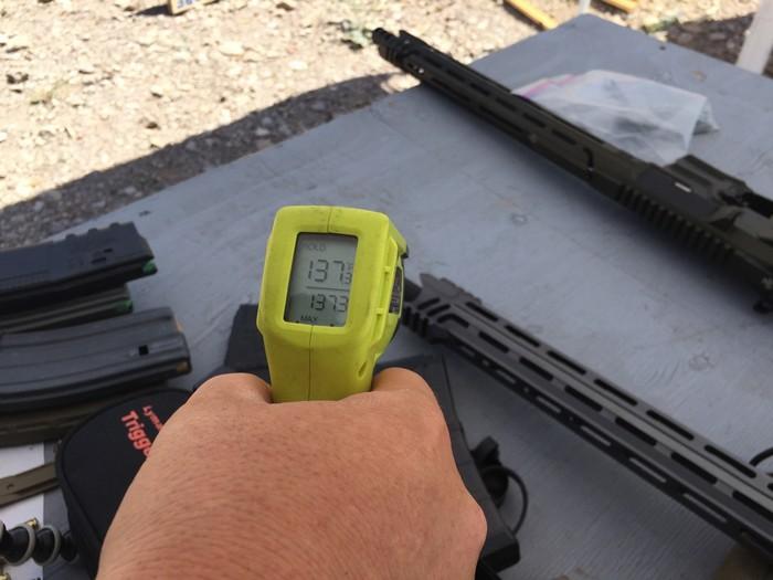 Температура винтовки после стрельбы