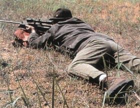 Легче всего сделать хороший выстрел из положения