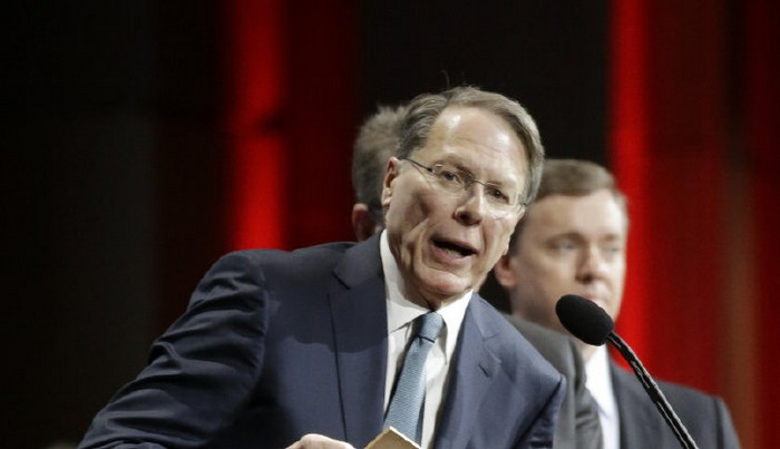 Wayne LaPierre, executive vice president of the National Rifle Association, says President Obama has the laws needed to stop illegal shootings. (AP Photo/Mark Humphrey)