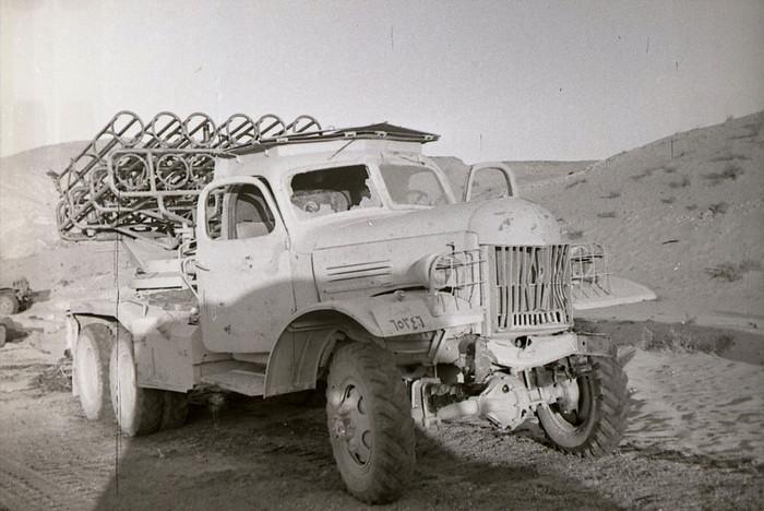 Египетская БМ-24-12 на шасси ЗИЛ-151 грузовика во время шестидневной войны.