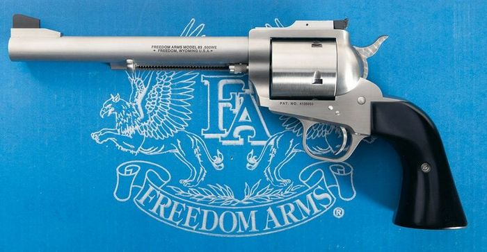 Large caliber revolver from Freedom Arms