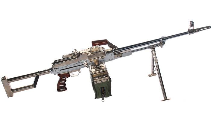Пулемет КМ-7,62 с хромироваными элементами