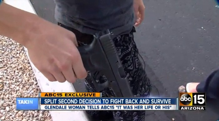Glendale woman defends herself after being threatened