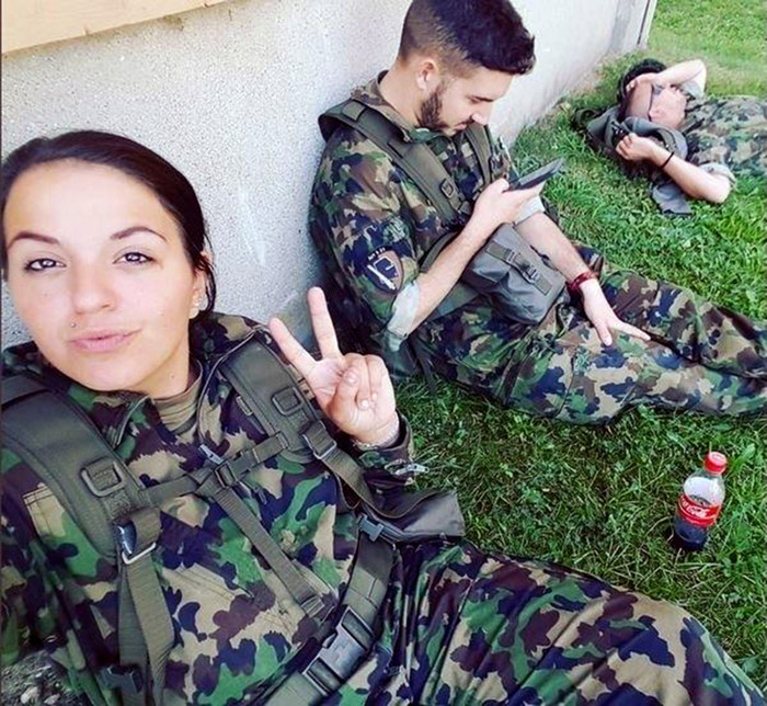 Females in Swiss army
