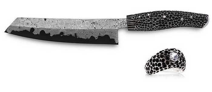 3. Nesmuk Diamond Studded Knife