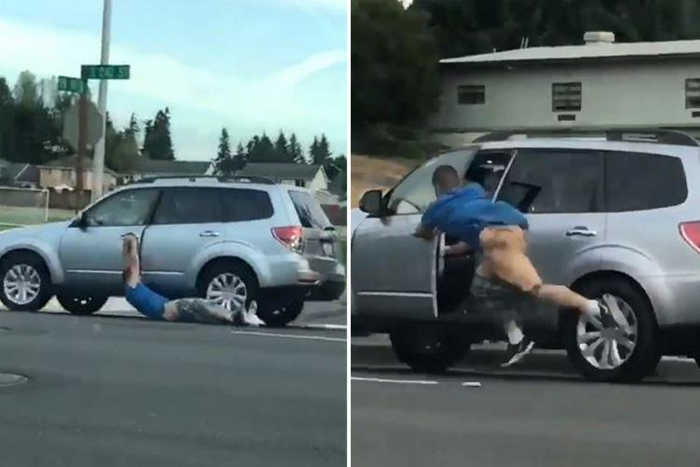 Carjacker loses his pants when motorist fights back
