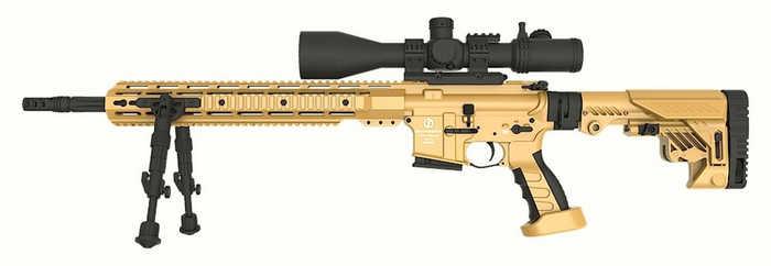 Базова модель гвинтівки AR15 DMR зі звичайним 18-дюймовим стволом.