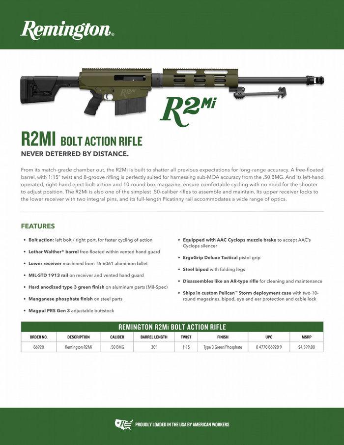Remington R2Mi 50 BMG